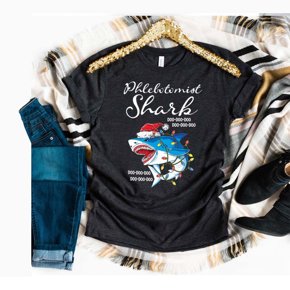 Phlebotomist Shark In Santa Hat Christmas Gift T