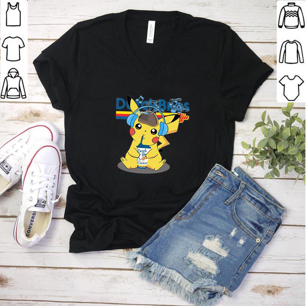 Pikachu drinking Dutch Bros Coffee shirt