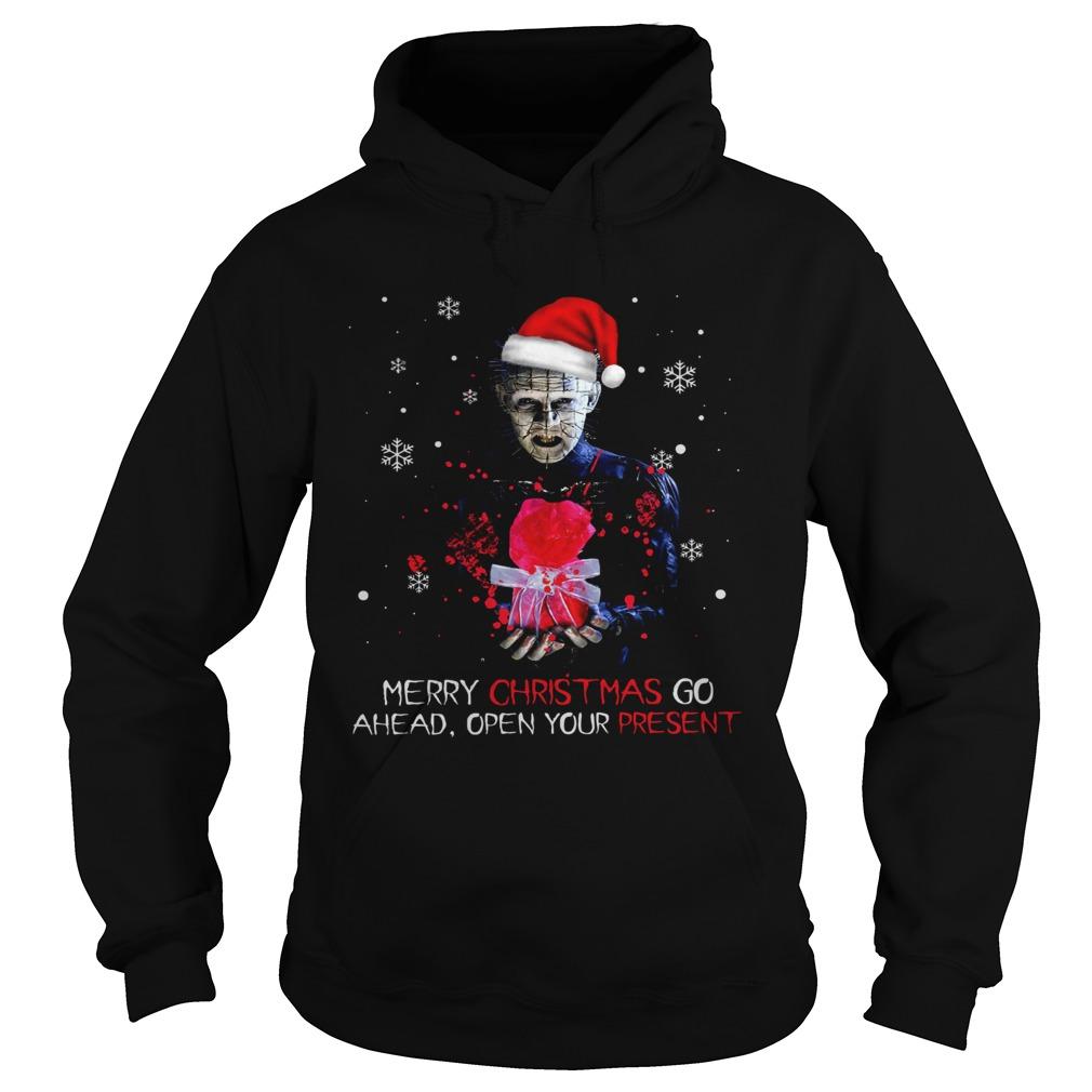 Pinhead merry christmas go ahead open your present christmas  Hoodie