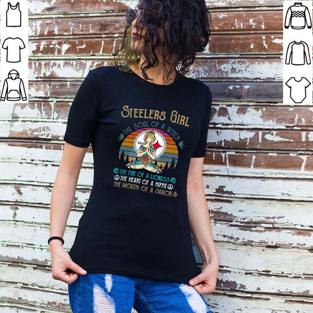 Pittsburgh Steelers Girl The Soul Of A Witch Yoga Vintage shirt