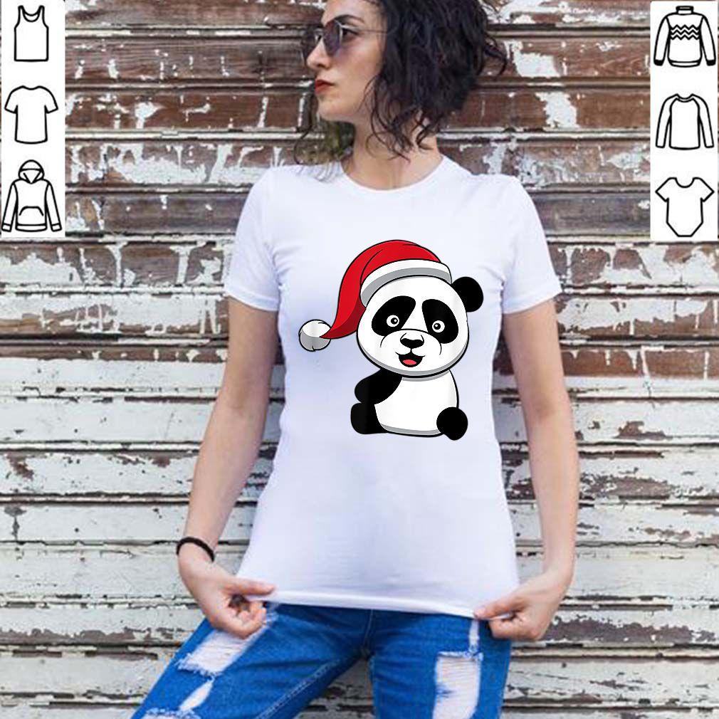 Premium Christmas Panda Bear Clothes Santas Hat Gift Cute Christmas sweater