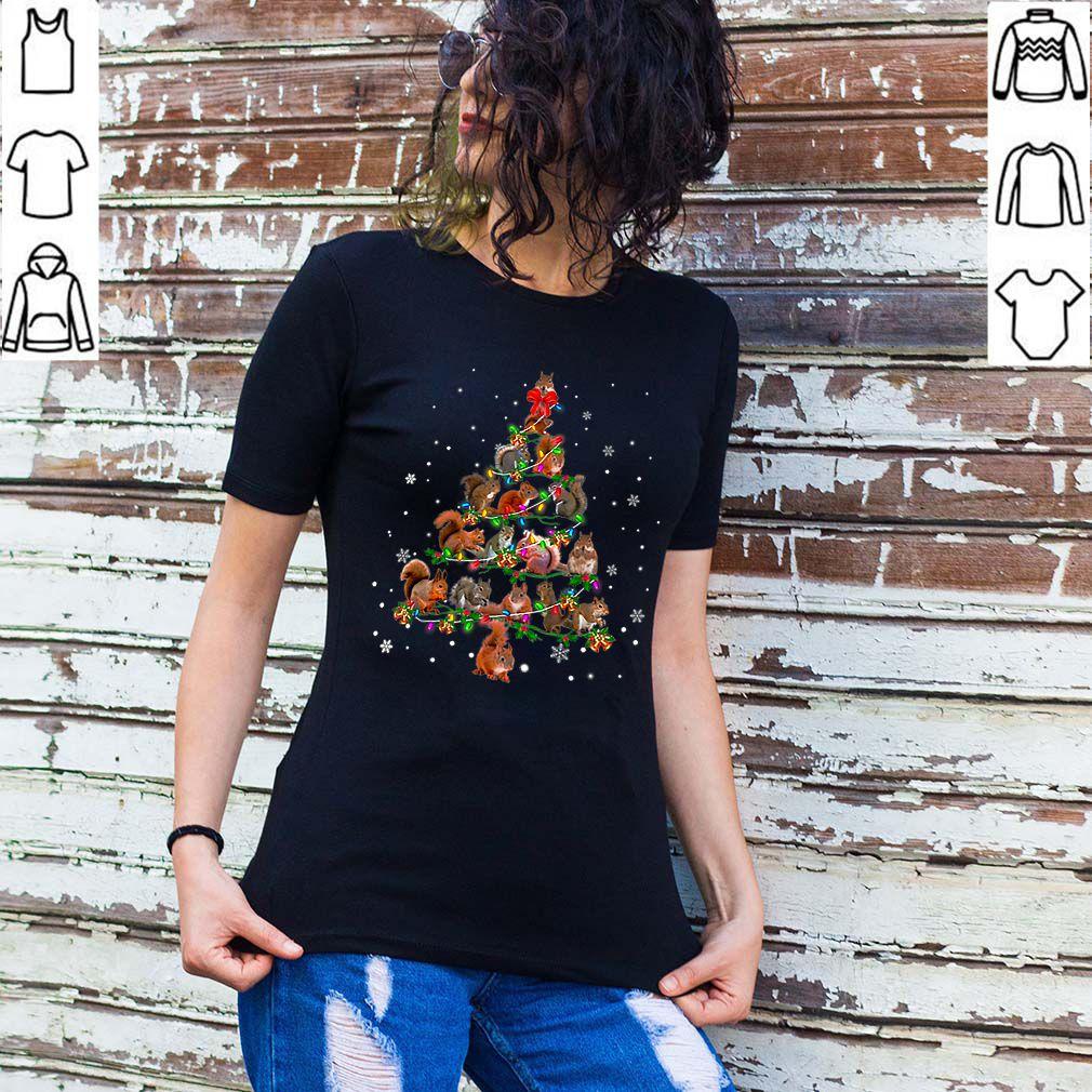Premium Cute Squirrel Christmas Tree gift decor Xmas tree shirt