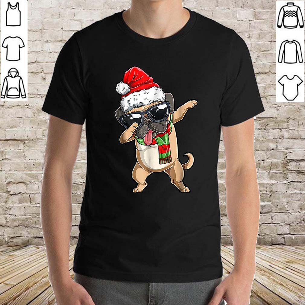 Premium Dabbing Pug Santa Christmas Kids Boys Girls Gifts sweater