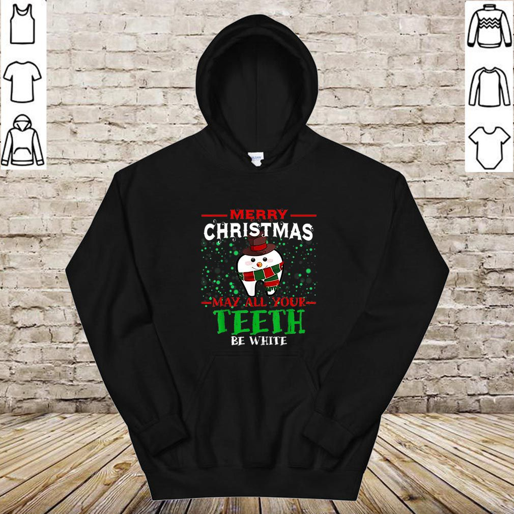 Pretty Merry Christmas May All Your Teeth Be White Dentists shirt