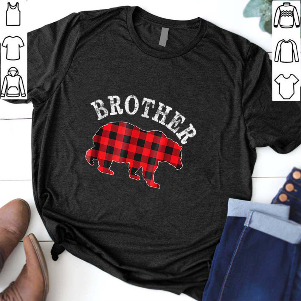 Pretty Red Plaid Brother Bear Buffalo Matching Family Pajama TShirt shirt