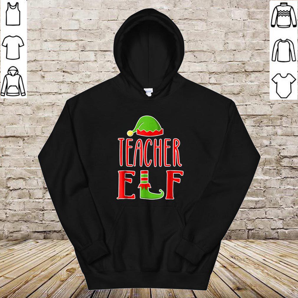 Pretty Teacher Elf Christmas, Funny Womens Christmas shirt
