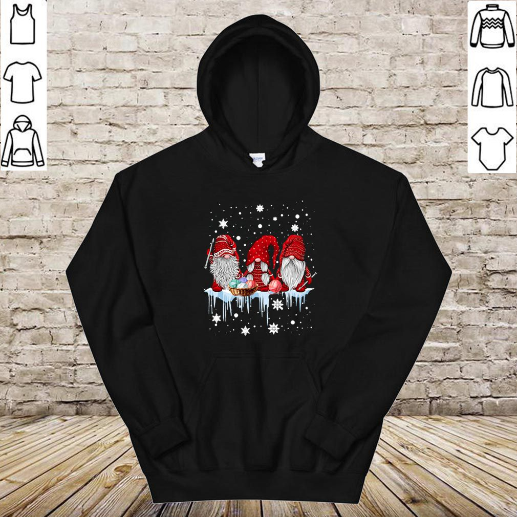 Red Gnome Sewing Christmas shirt