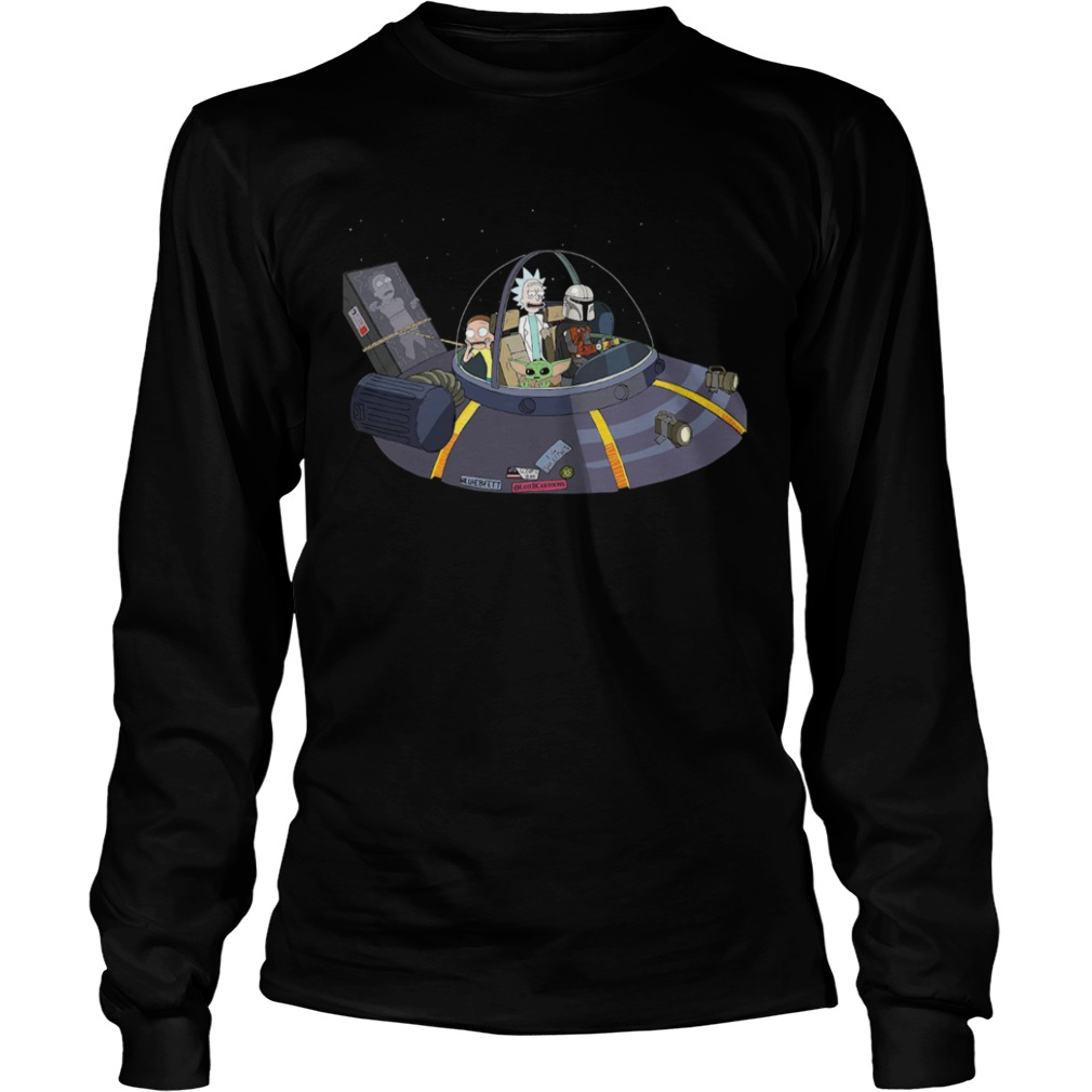 Rick And Morty Mandalorian Spaceship  LongSleeve