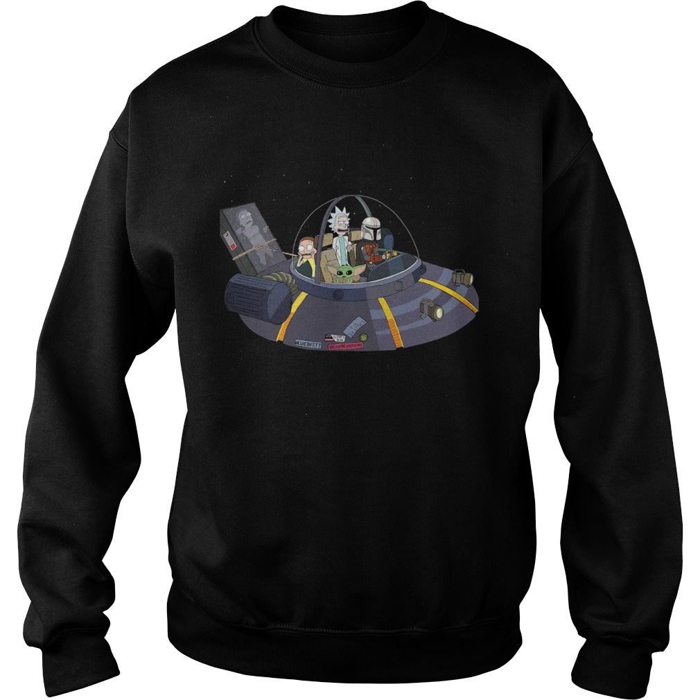 Rick And Morty Mandalorian Spaceship  Sweatshirt