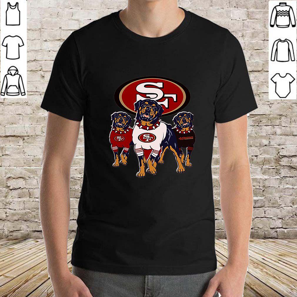 Rottweiler dogs San Francisco 49ers shirt