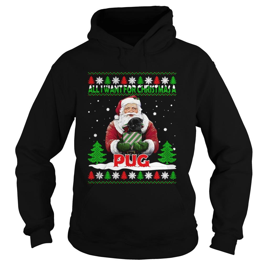 Santa Alldor Christmas A Pug Ugly Christmas  Hoodie