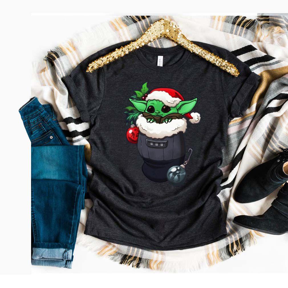 Santa Baby Yoda Santa Stocking Ugly Christmas Shirt