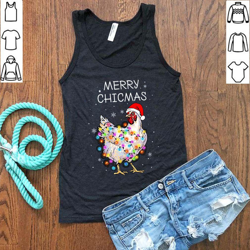 Santa Chicken Merry Chicmas Merry Christmas sweater