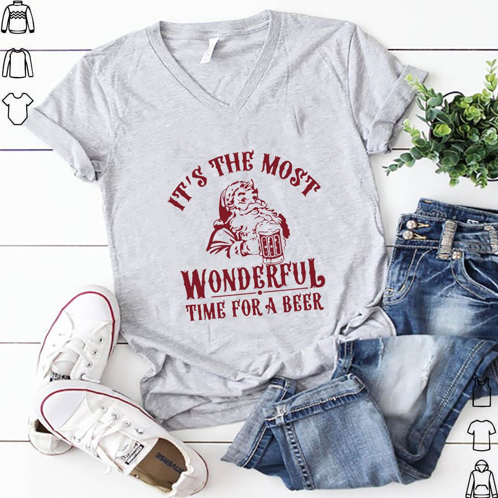 Santa Claus It's The Most Wonderful Time For A Beer T-Shirts