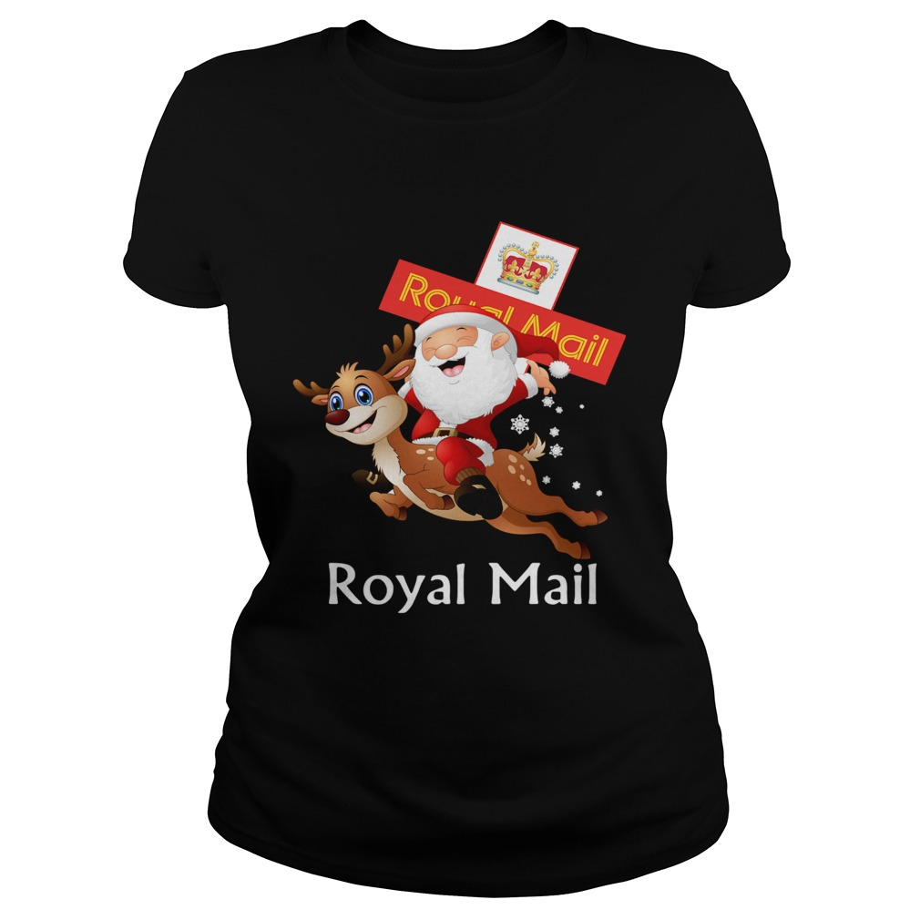 Santa Claus Riding Reindeer Royal Mail  Classic Ladies