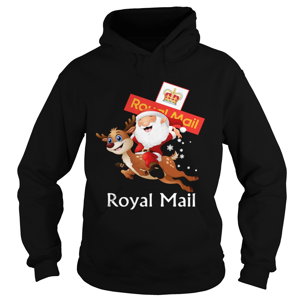 Santa Claus Riding Reindeer Royal Mail  Hoodie