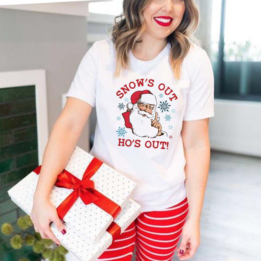 Santa Claus Snow's Out Ho's Out Christmas sweatshirt
