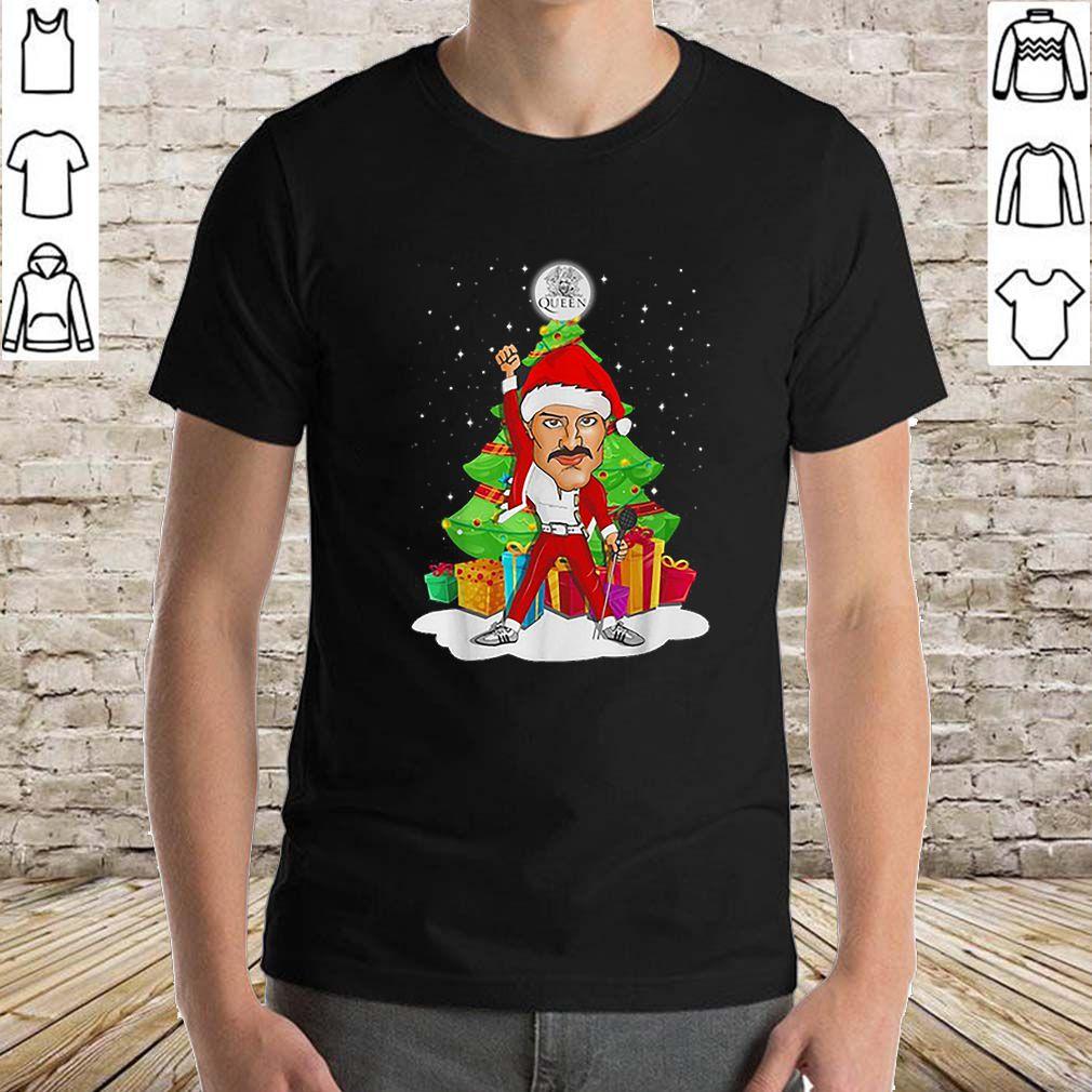 Santa Freddie Mercury Queen Christmas tree gifts shirt
