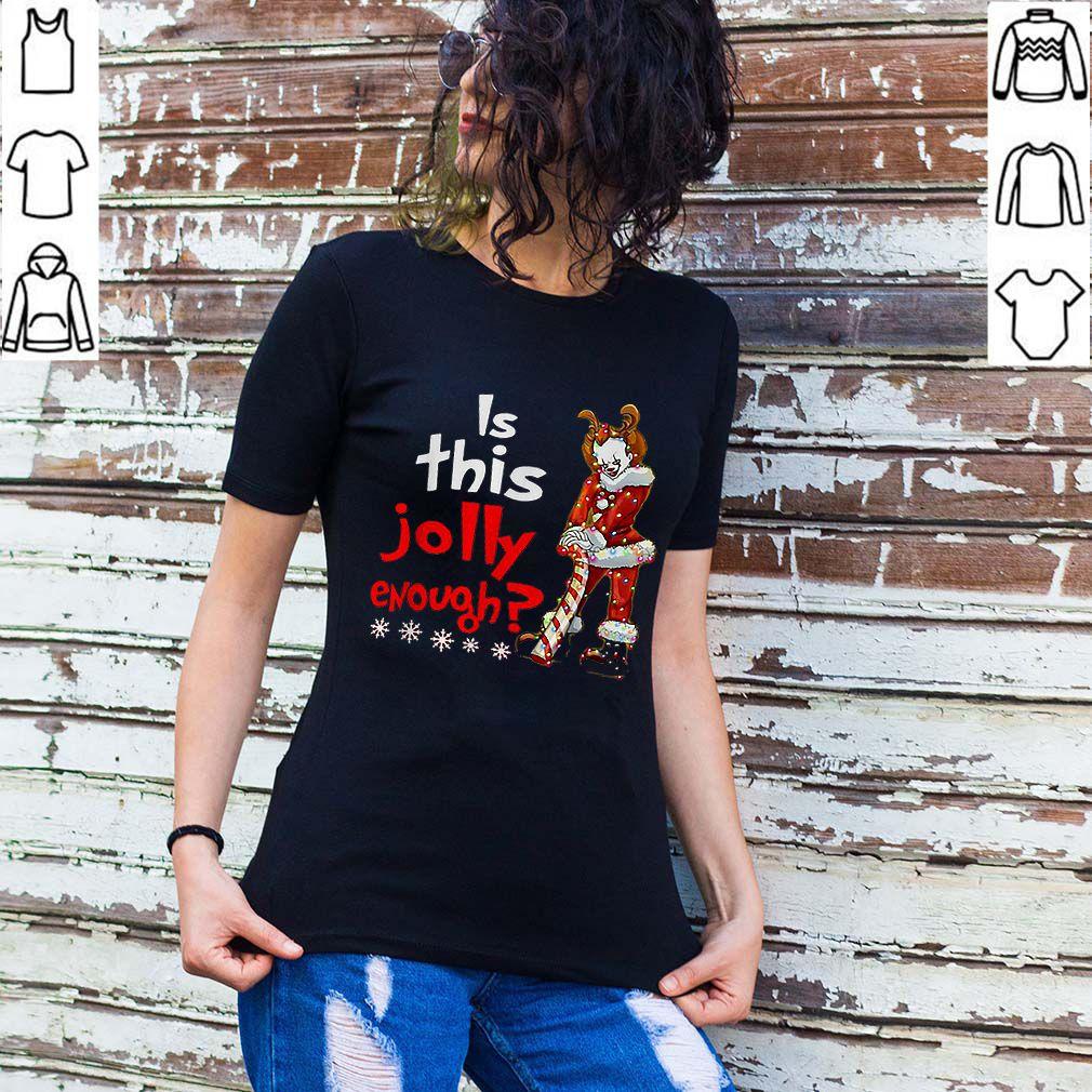 Santa Pennywise is this Jolly enough Christmas shirt