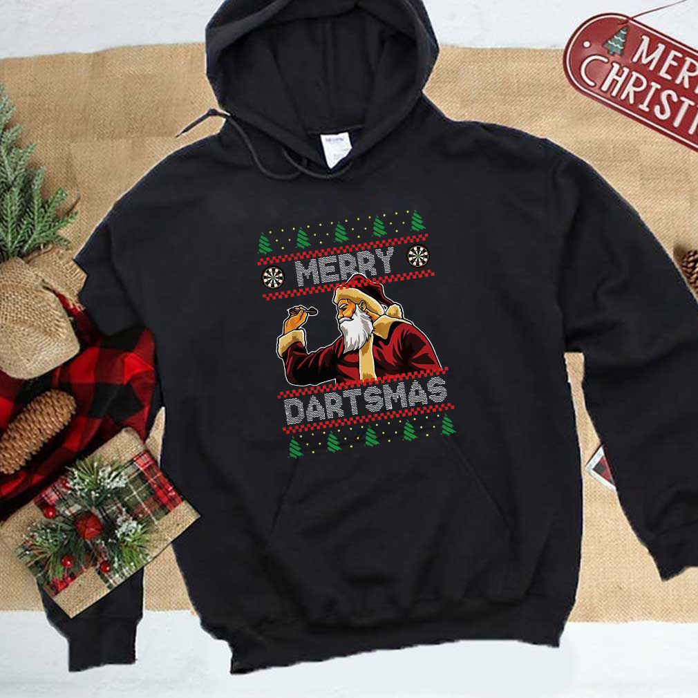 Santa playing Darts Merry Dartsmas shirt