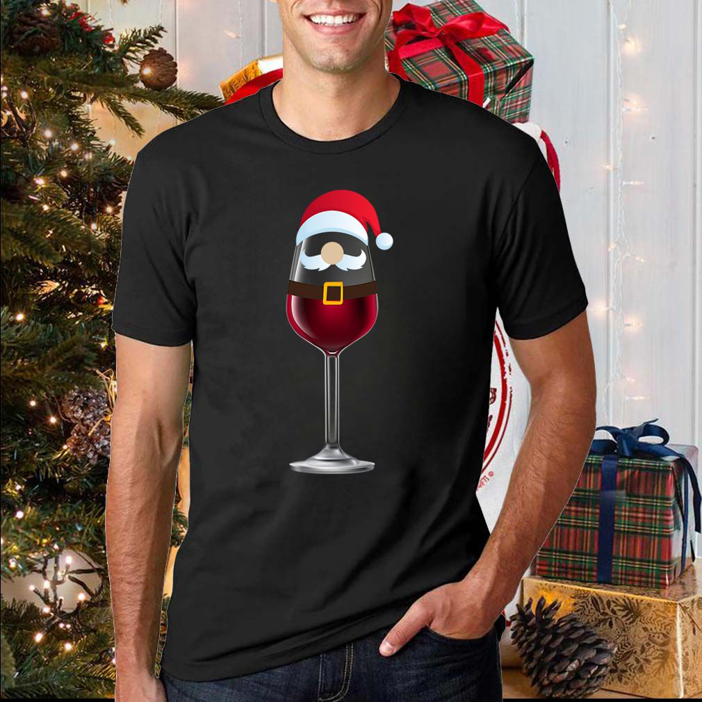 Santa wine glass T-Shirt