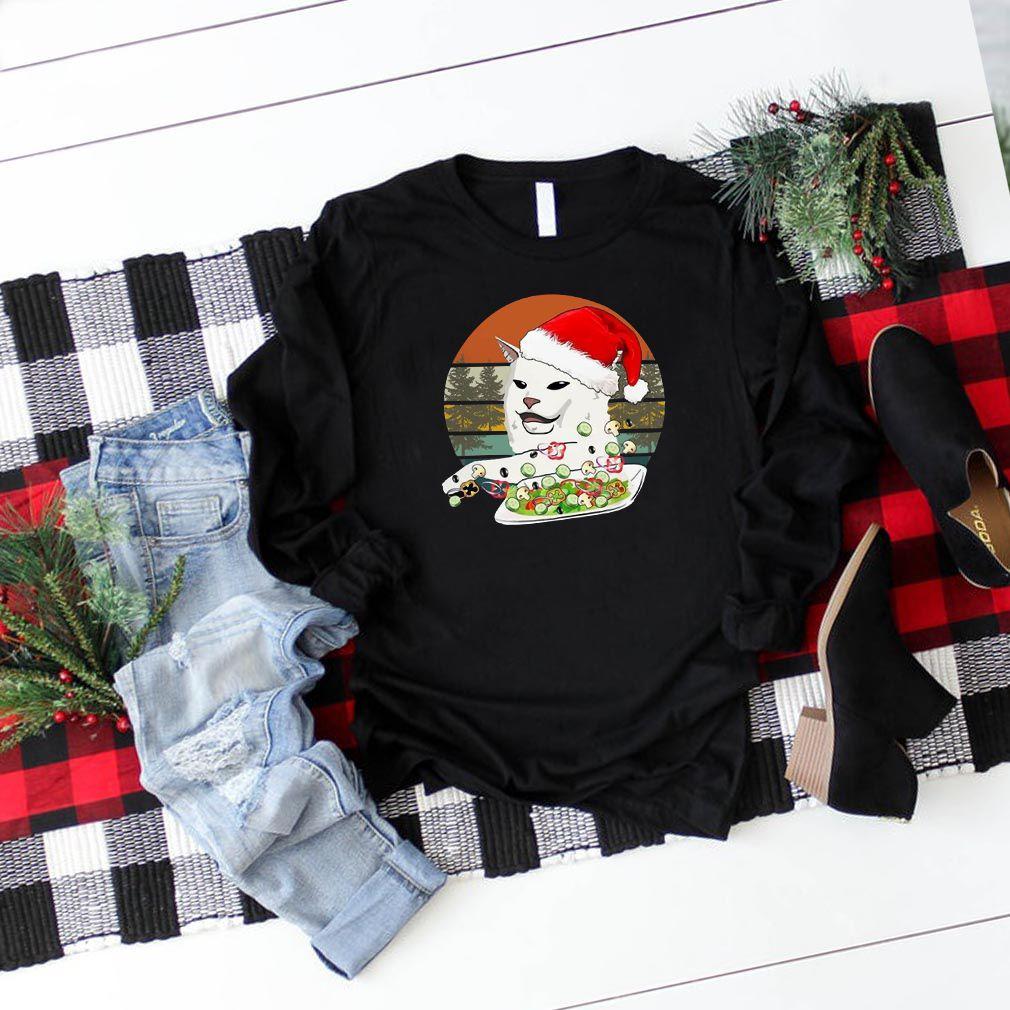 Santa Woman Yelling At A Cat Vintage Classic T-Shirt