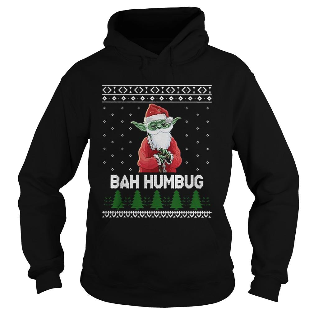 Santa Yoda Bah Humbug Christmas ugly  Hoodie