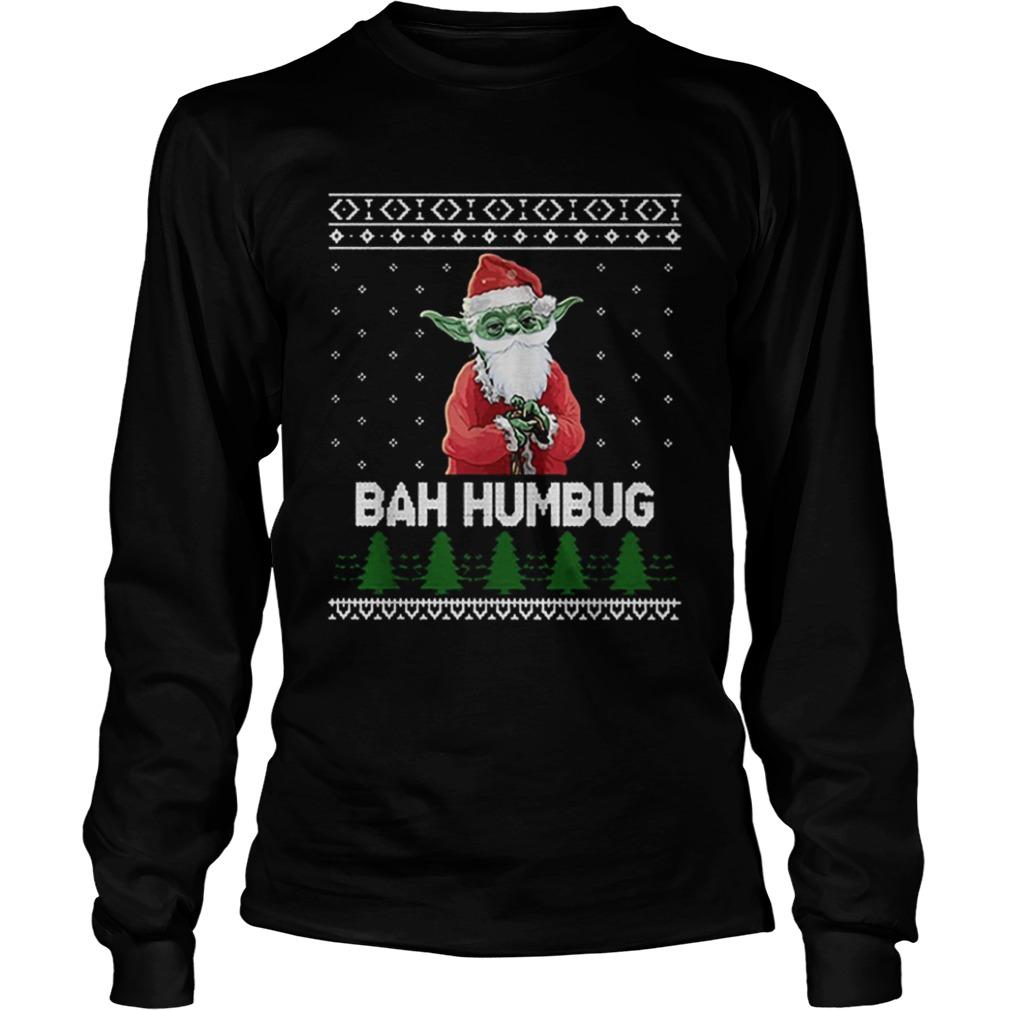 Santa Yoda Bah Humbug Christmas ugly  LongSleeve