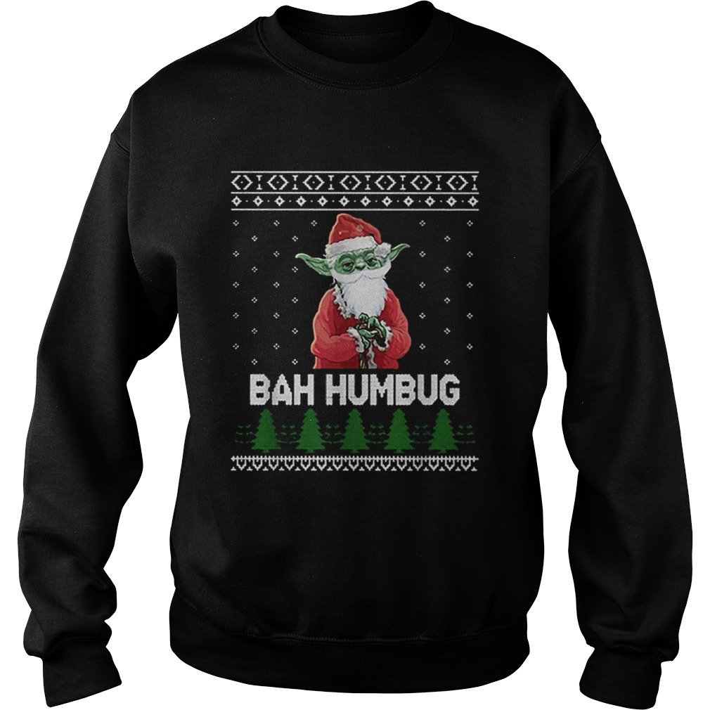 Santa Yoda Bah Humbug Christmas ugly  Sweatshirt