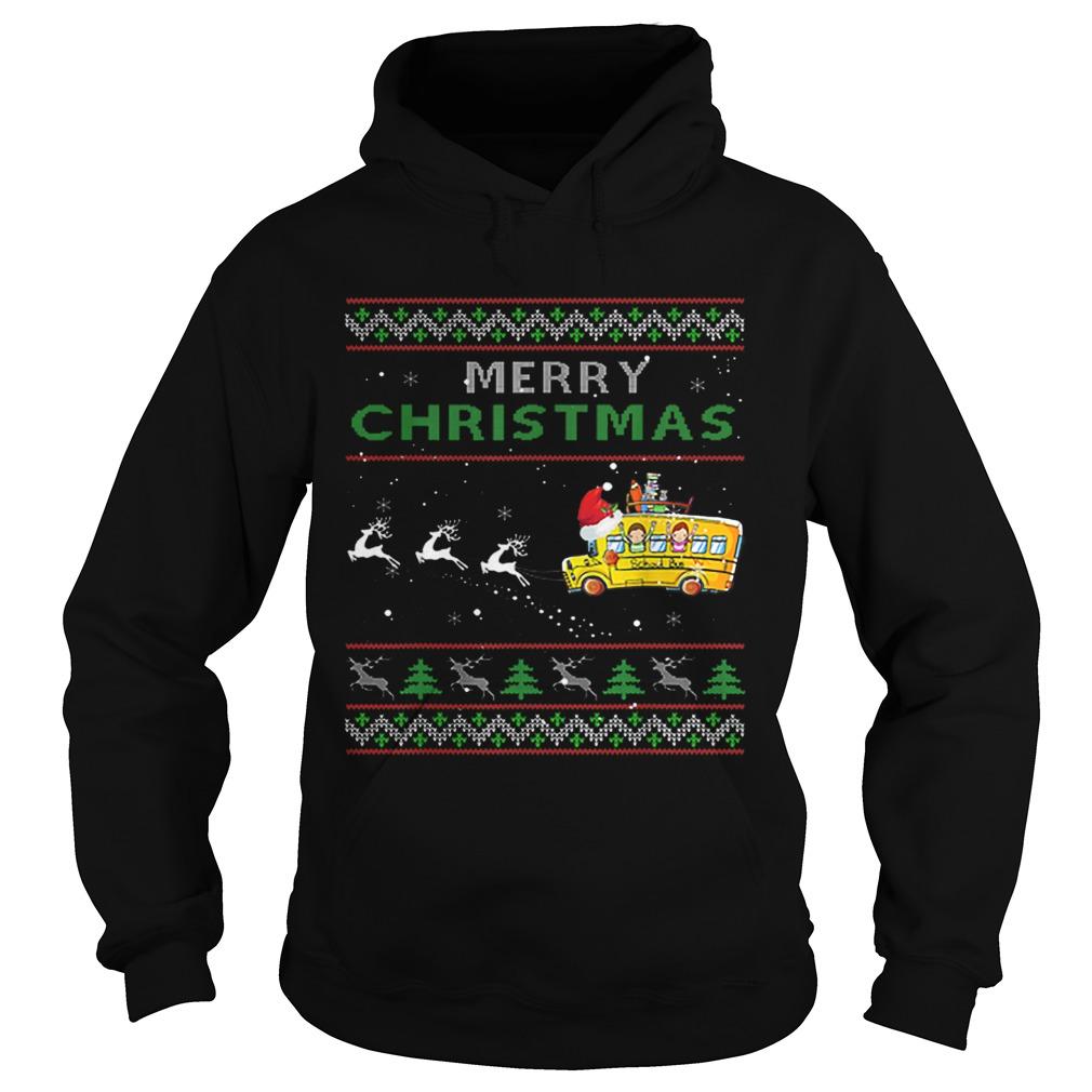 School Bus Driver Merry Christmas Ugly  Hoodie
