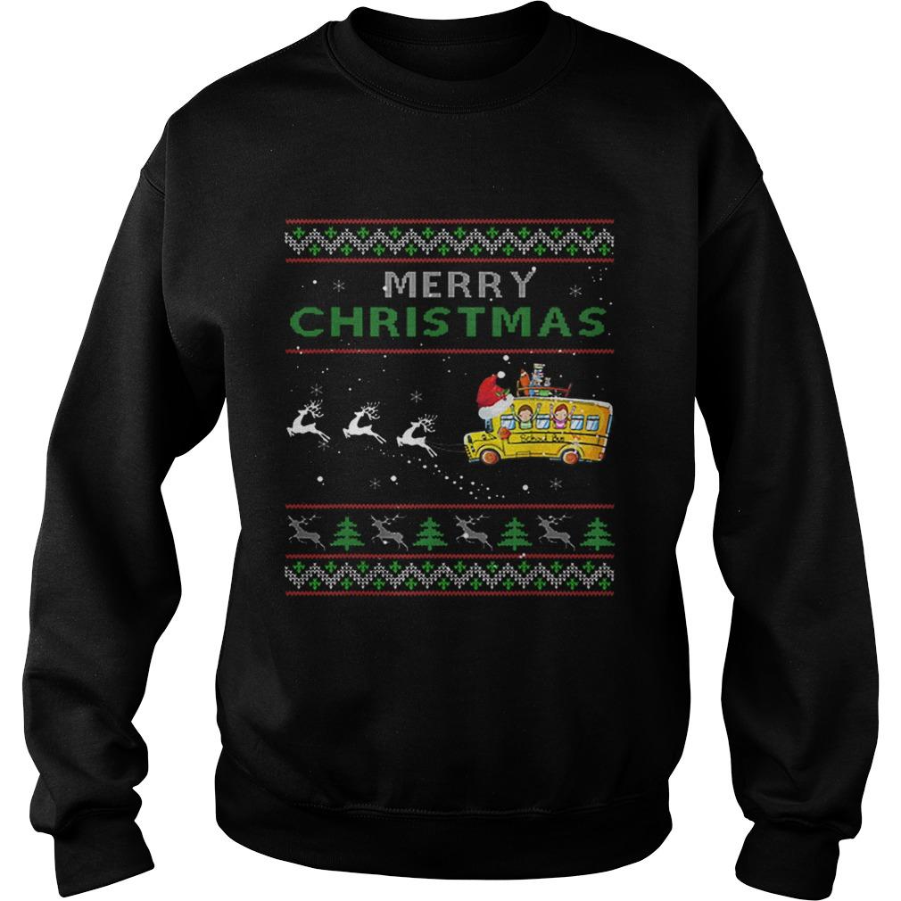 School Bus Driver Merry Christmas Ugly  Sweatshirt