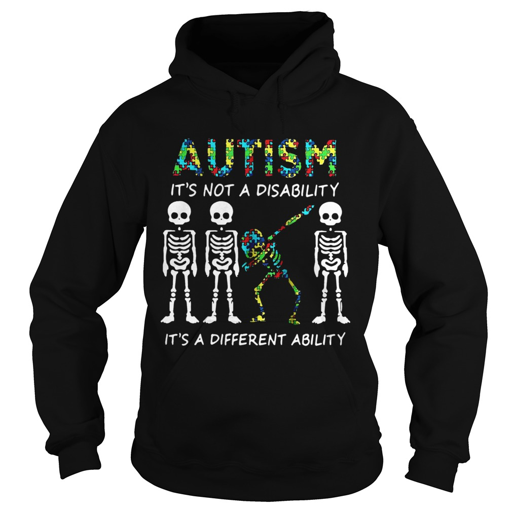 Skellington dabbing Autism its not a disability its a different ability  Hoodie
