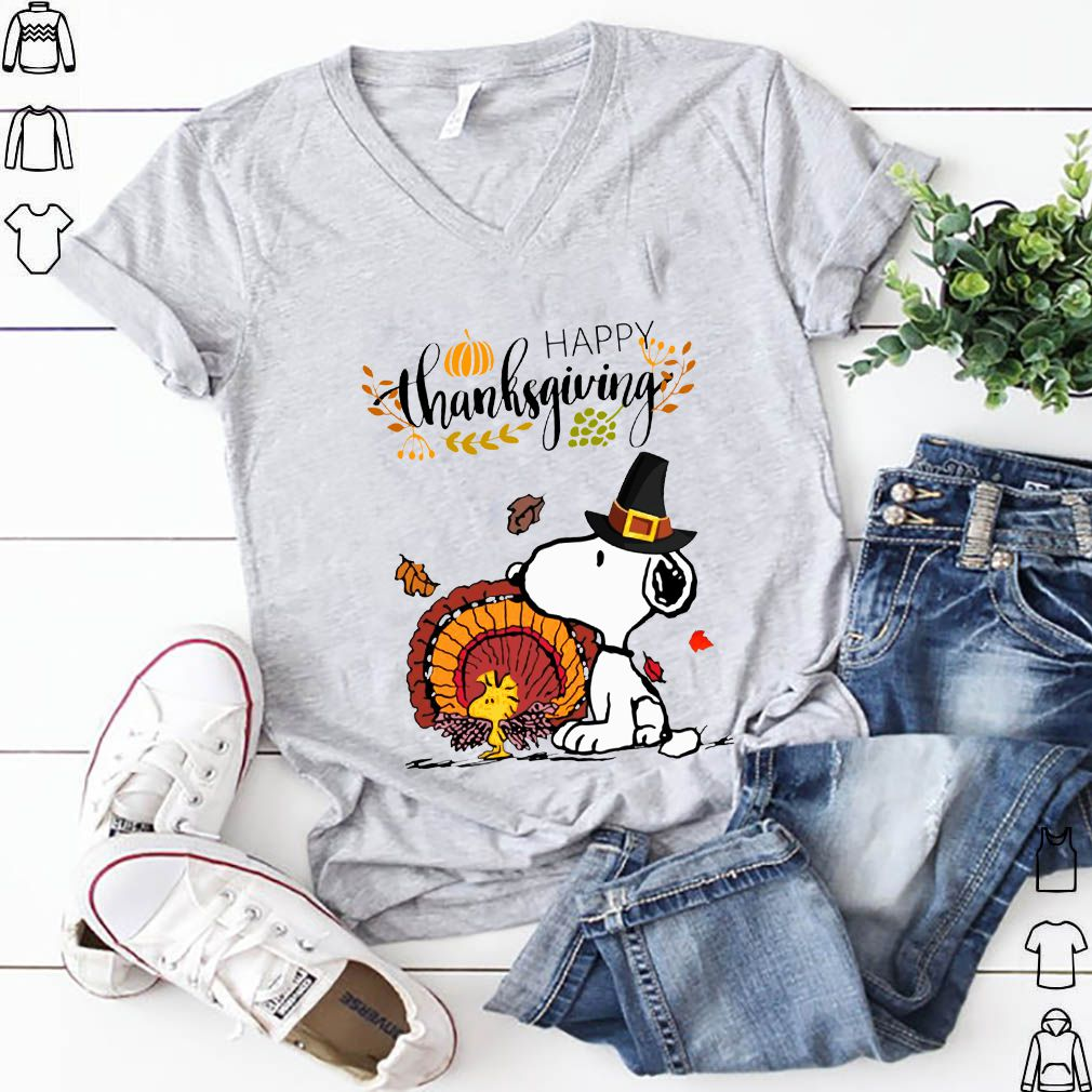 Snoopy and Woodstock Turkey Happy Thanksgiving Mugs shirt