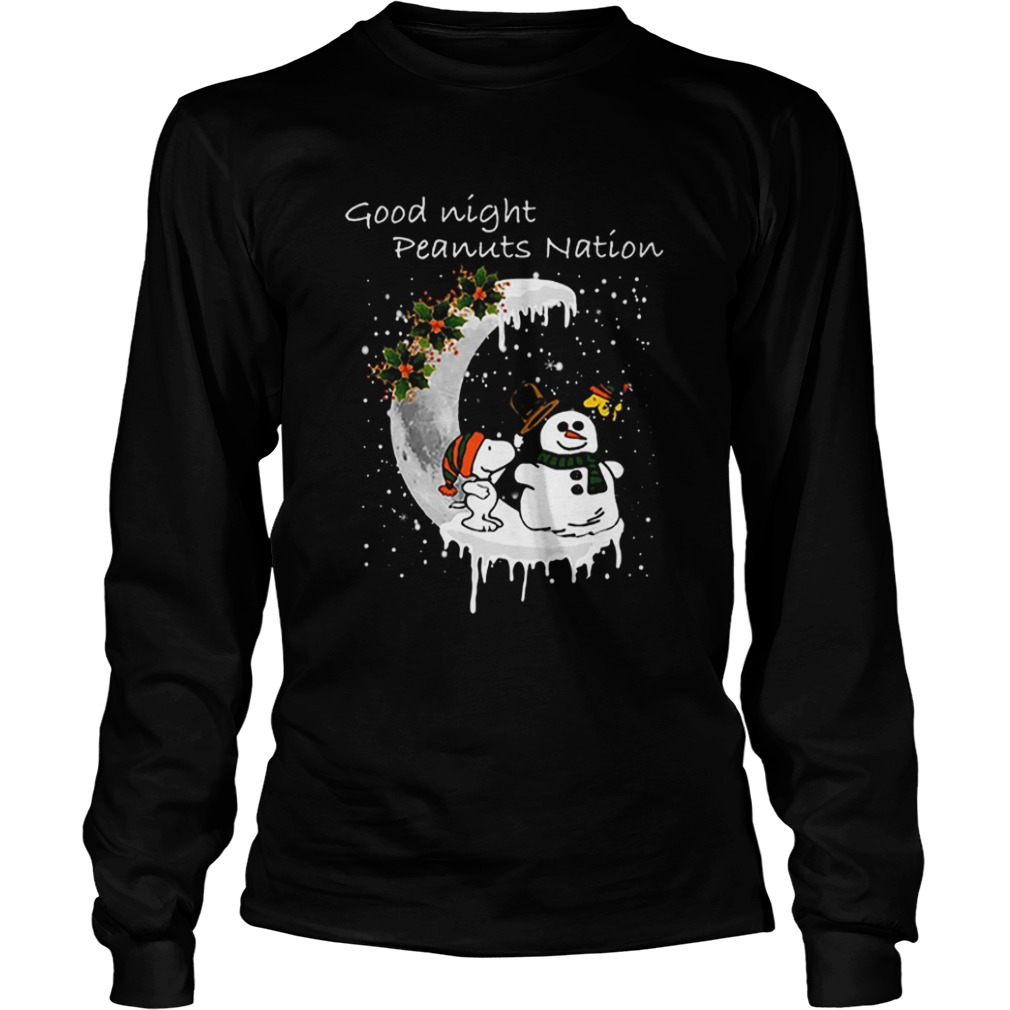 Snoopy good night Peanuts nation Christmas  LongSleeve