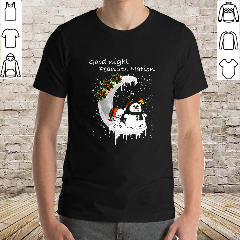 Snoopy good night Peanuts nation Christmas shirt