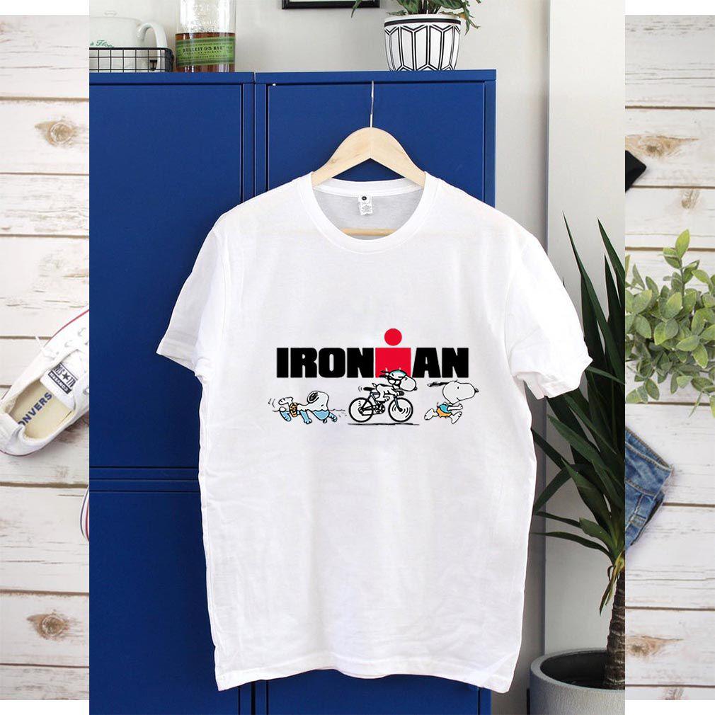Snoopy Iron Man Doing Sports shirt