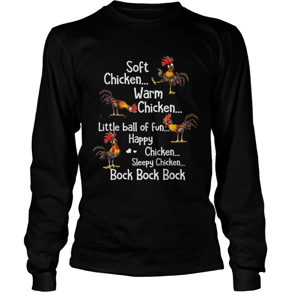 Soft Chicken Warm Chicken Little Ball Of Fun Happy CHicken Sleepy Chicken Bock Bock Bock  LongSleeve