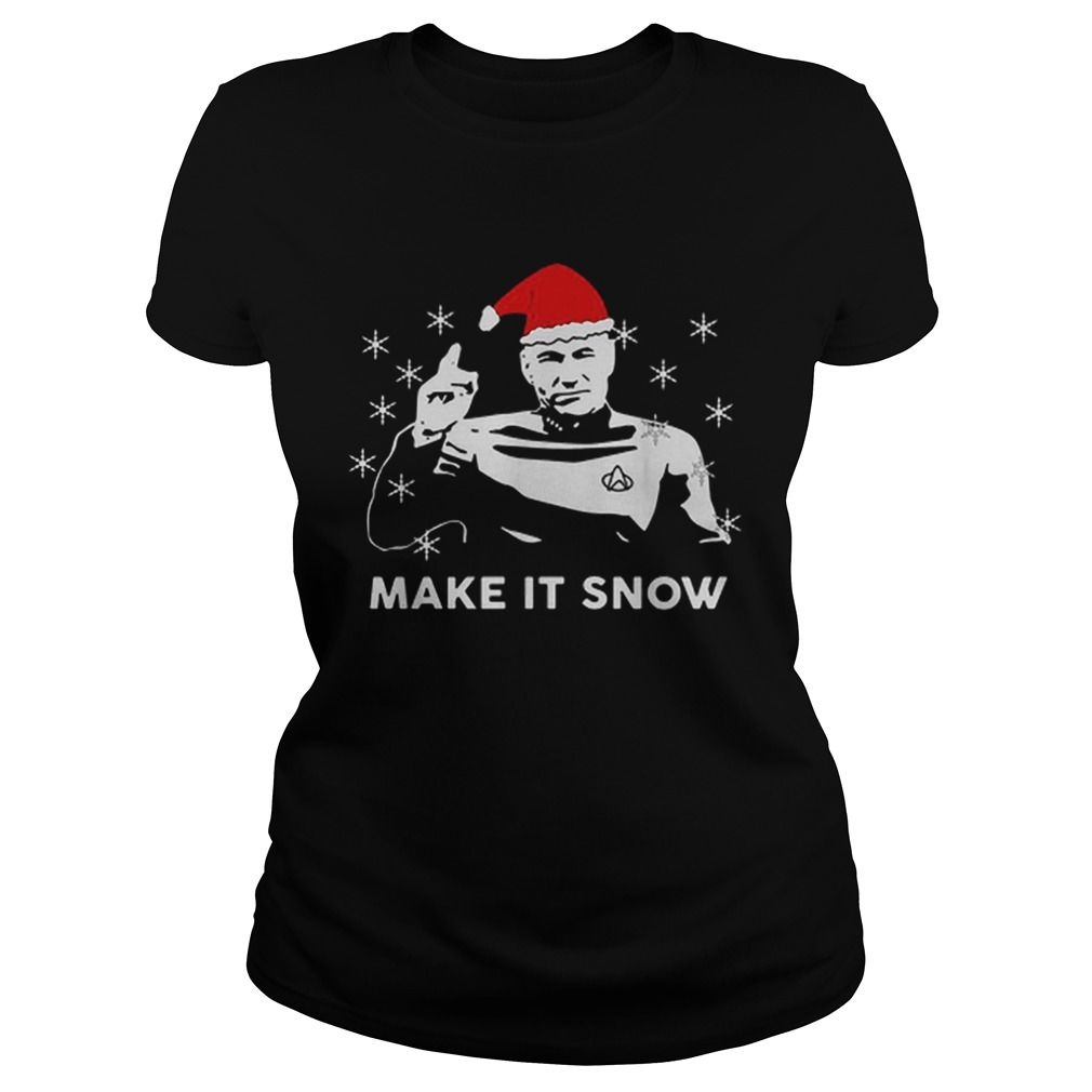 Star Trek Santa make it snow Christmas  Classic Ladies