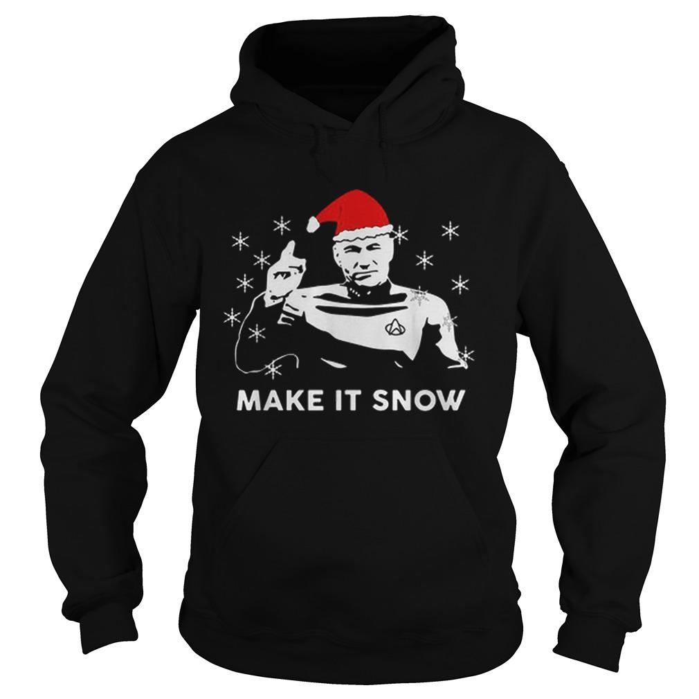 Star Trek Santa make it snow Christmas  Hoodie