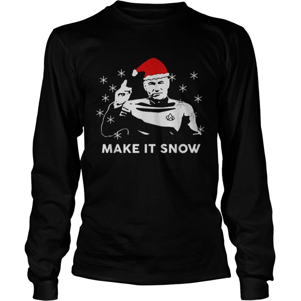 Star Trek Santa make it snow Christmas  LongSleeve