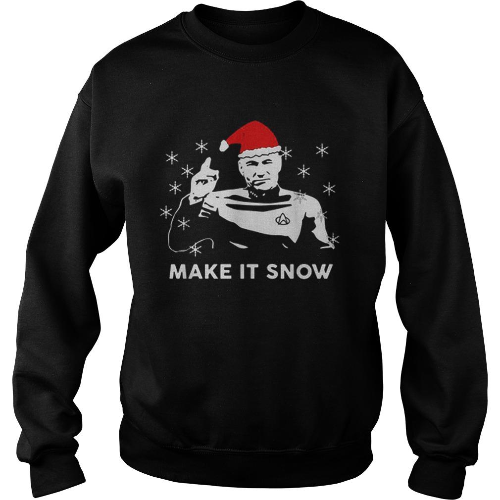 Star Trek Santa make it snow Christmas  Sweatshirt