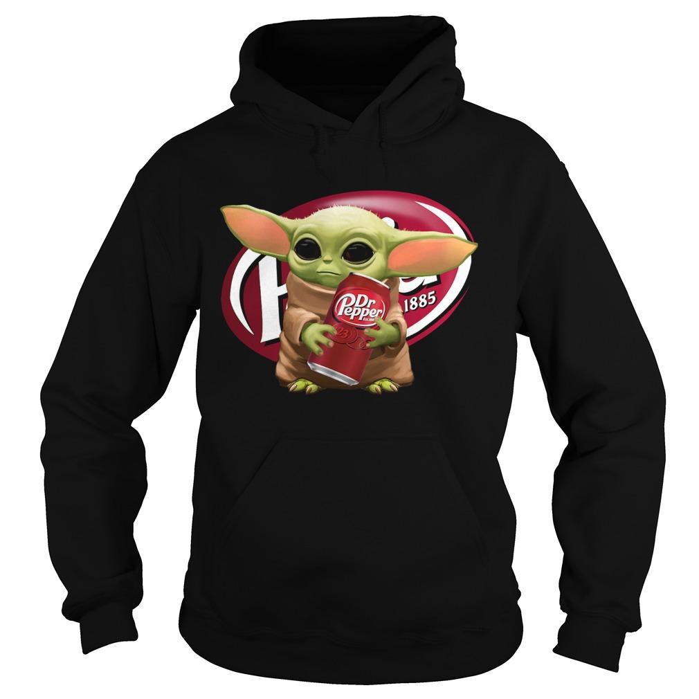 Star Wars Baby Yoda Hug Dr Pepper  Hoodie