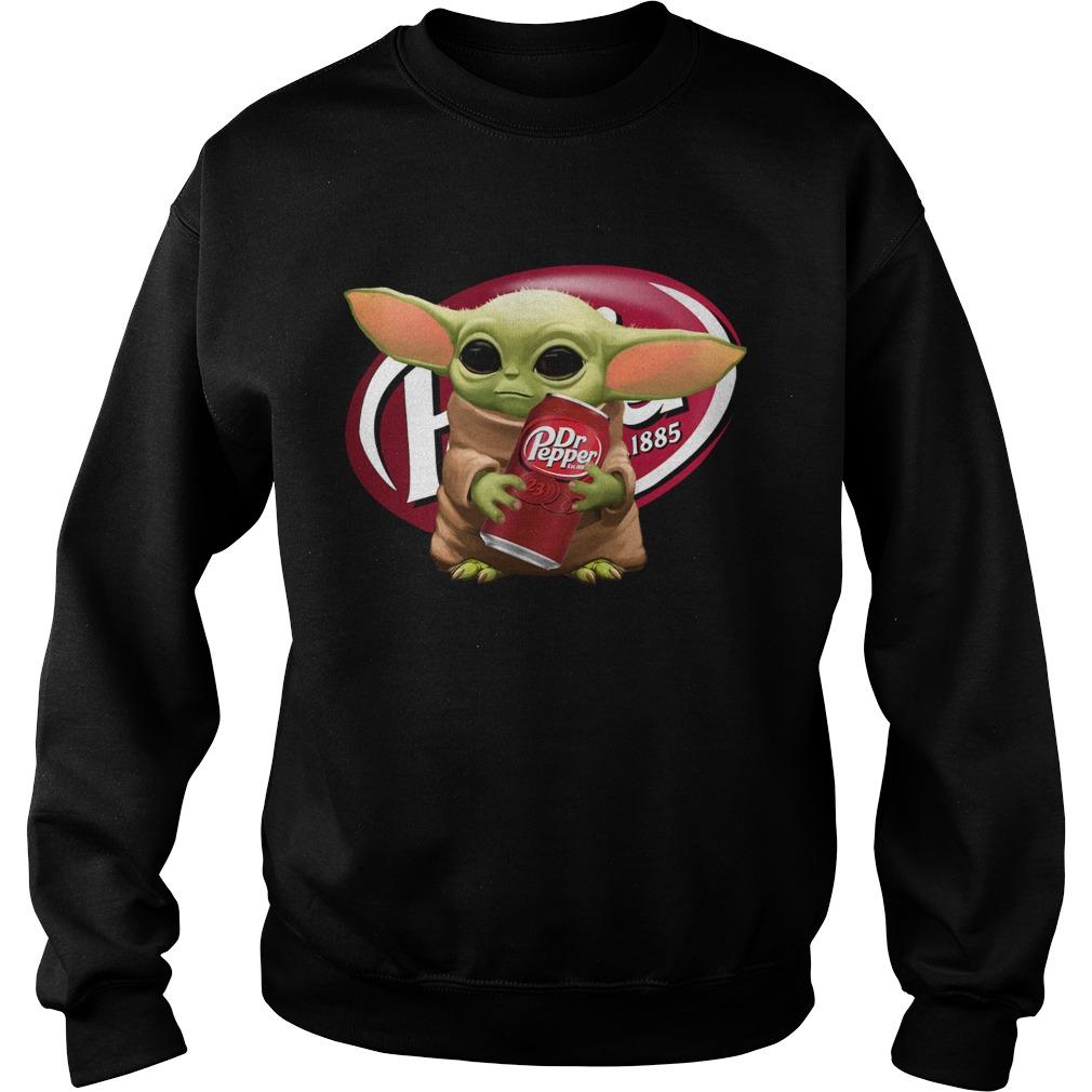 Star Wars Baby Yoda Hug Dr Pepper  Sweatshirt