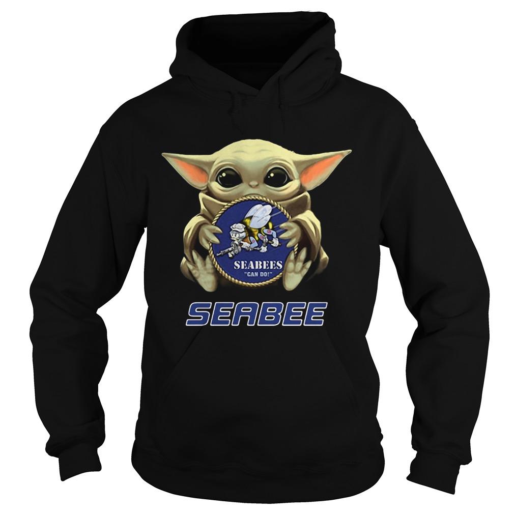 Star Wars Baby Yoda Hug Seabee  Hoodie