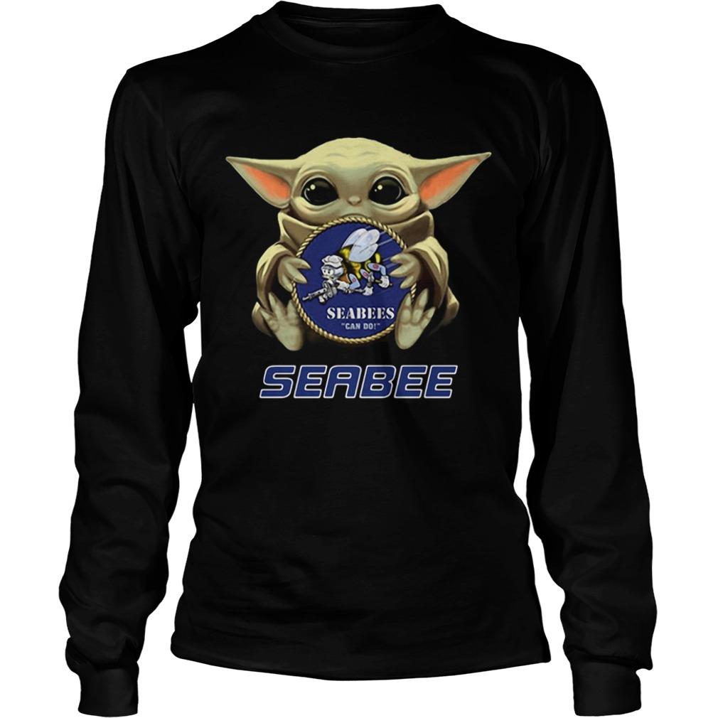 Star Wars Baby Yoda Hug Seabee  LongSleeve
