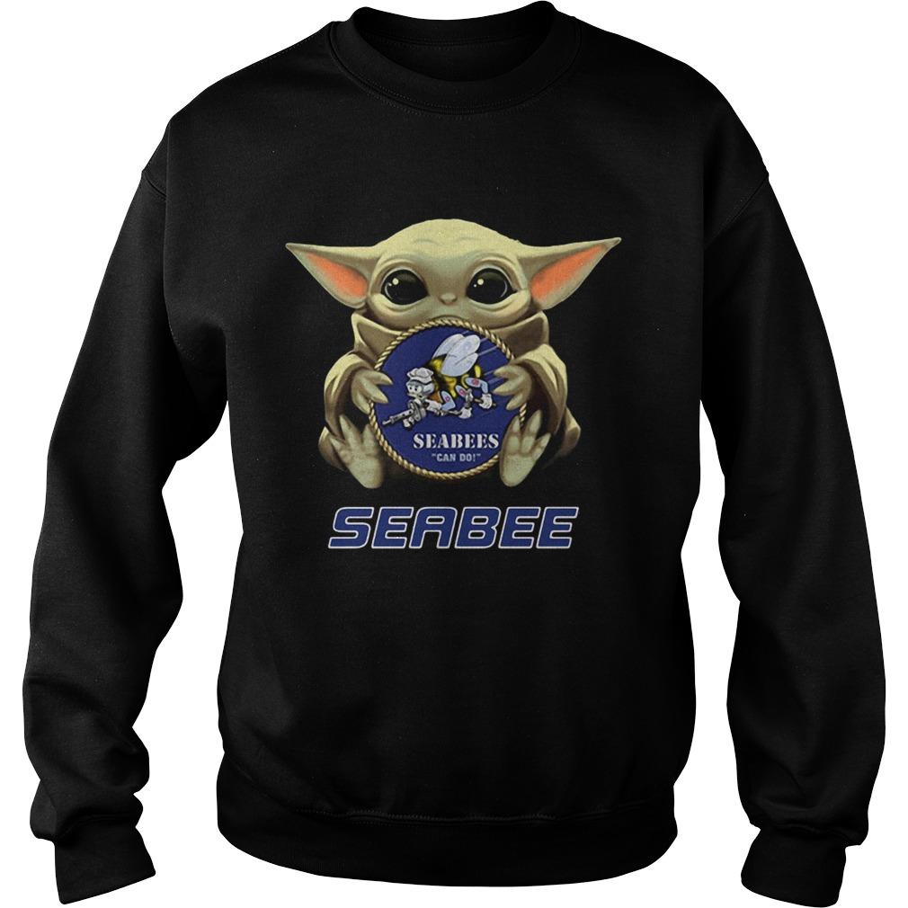 Star Wars Baby Yoda Hug Seabee  Sweatshirt