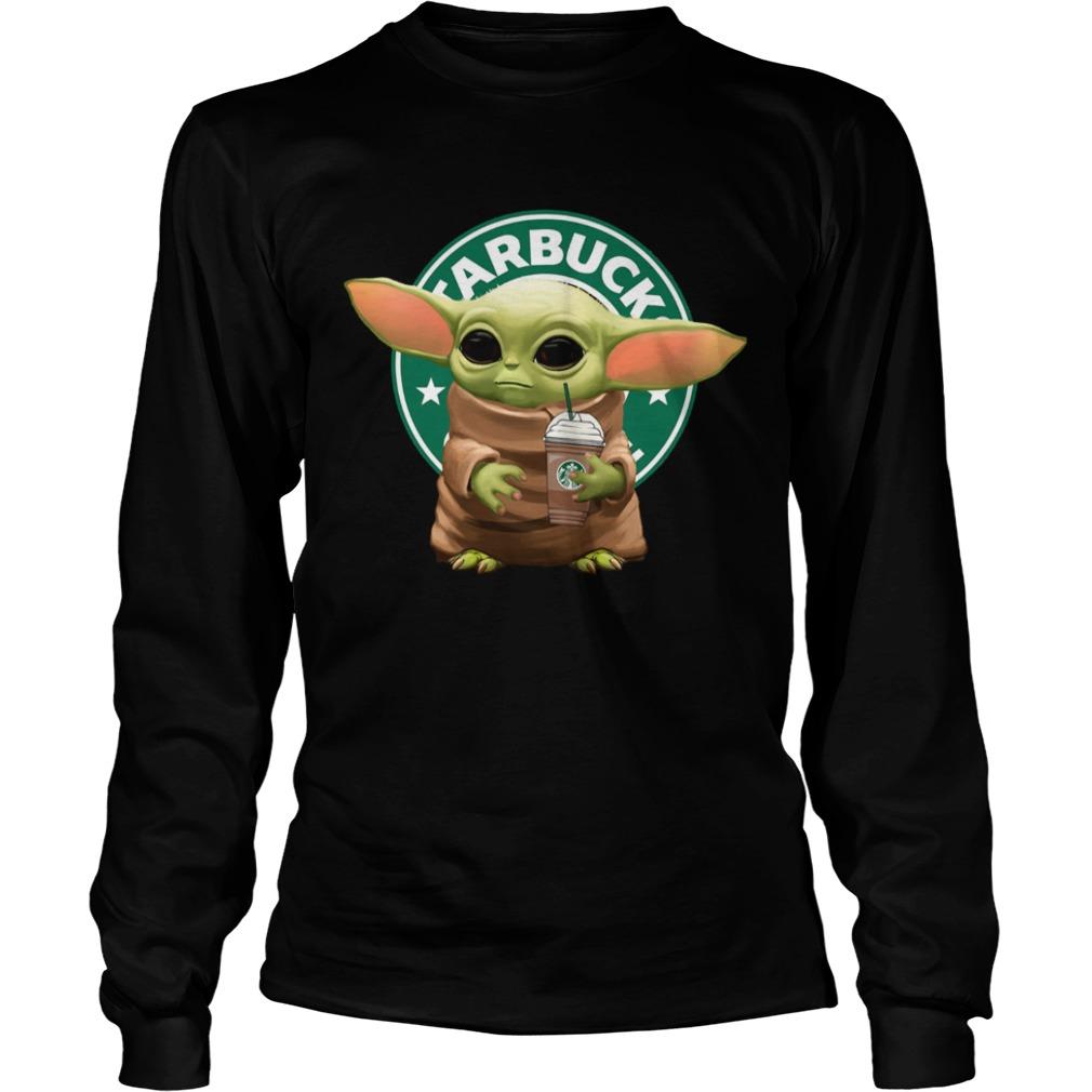 Star Wars Baby Yoda Hug Starbucks  LongSleeve