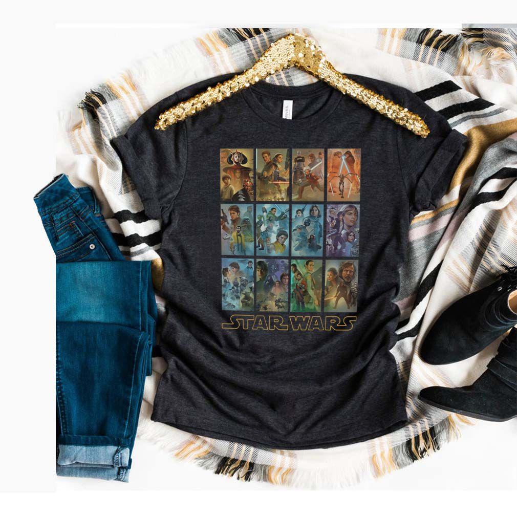 Star Wars Celebration Mural Art Panels T Shirt