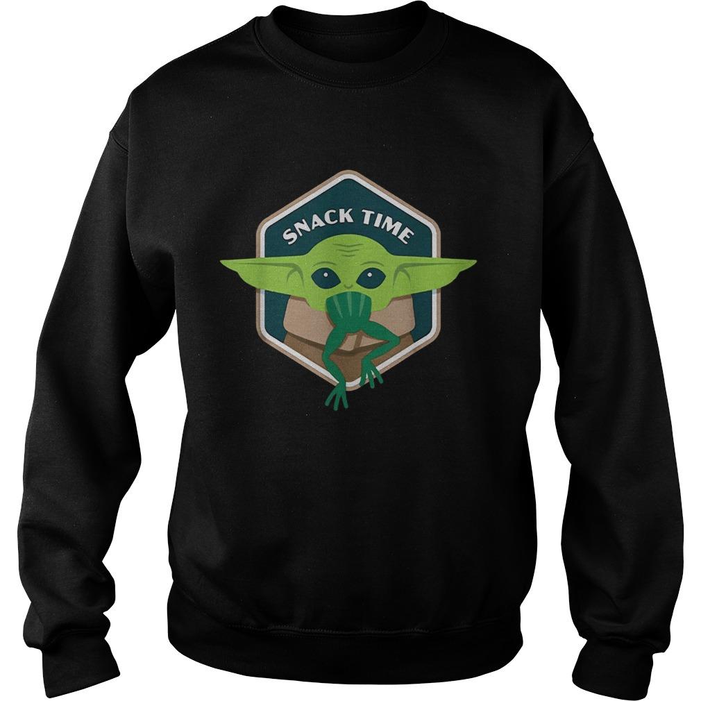 Star Wars The Mandalorian The Child Snack Time  Sweatshirt