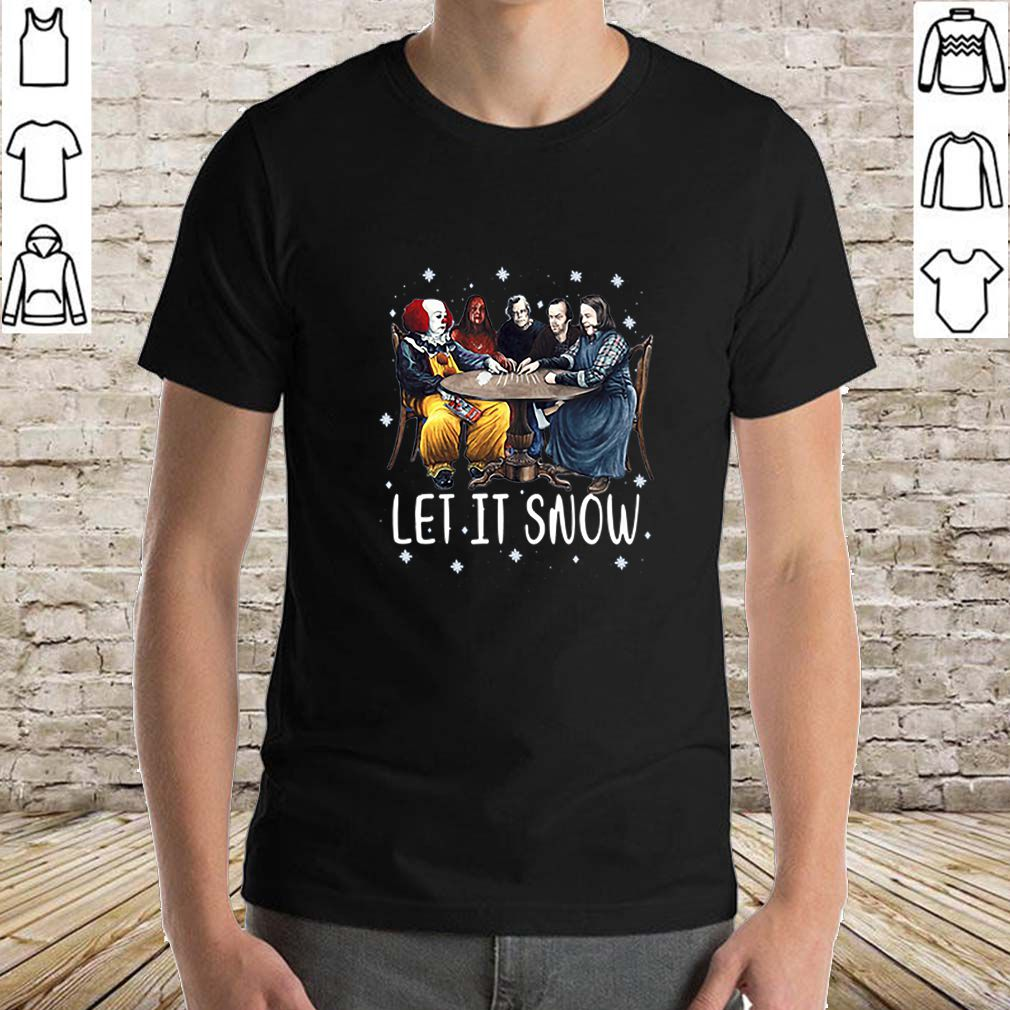 Stephen King Horror Let It Snow Merry Christmas shirt